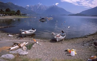 Our walk enjoyed stunning views across Lake Como
