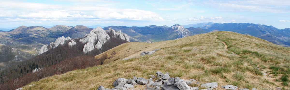 Bacic Kuk And The View Extending All The Way To Paklenica