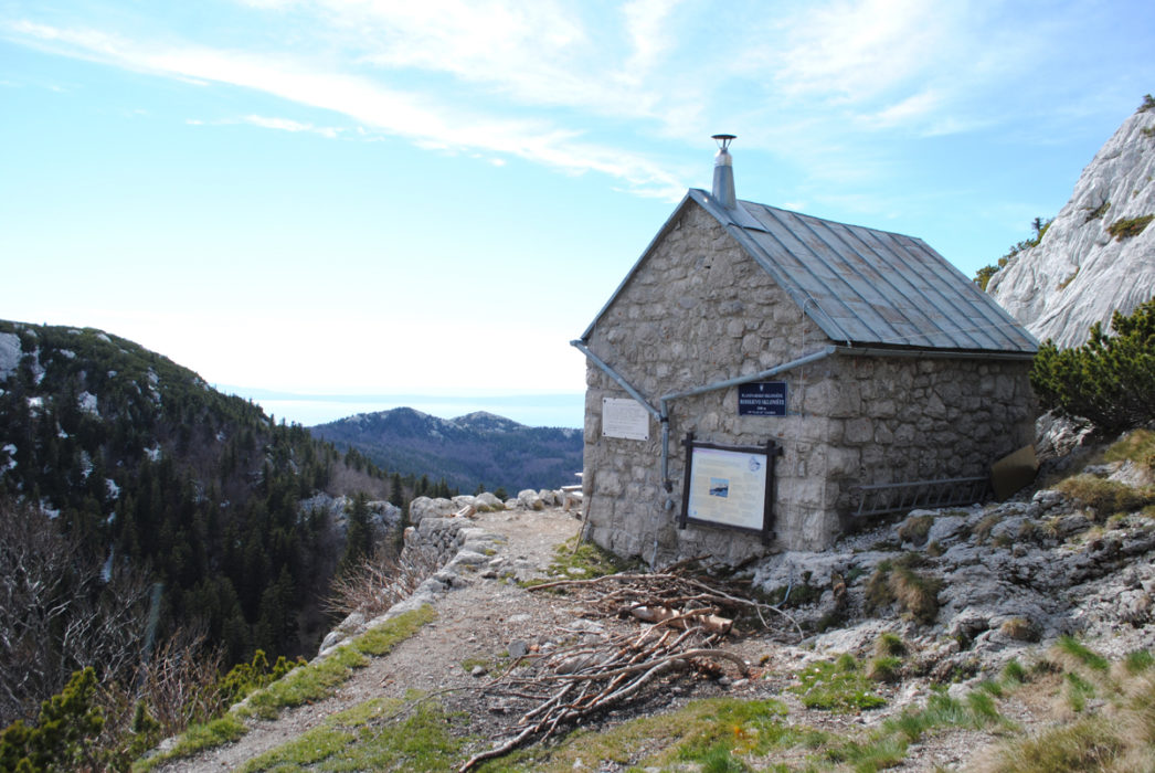 One Of The Many Mountain Huts In The Velebit