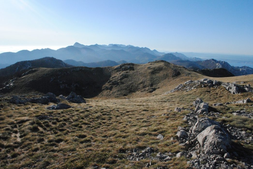 Looking South Towards Paklenica From Veliki Stolac
