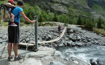 Suspension Bridge At Bout Du Monde