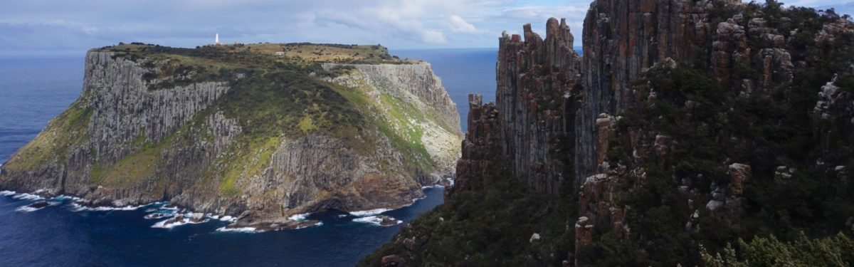 Looking Back At The Spectaular Cape Pillar And Tasman Island