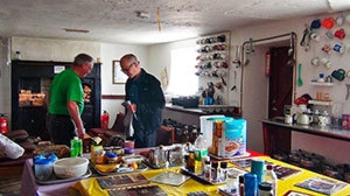 Inside Skiddaw House Cumbria Way