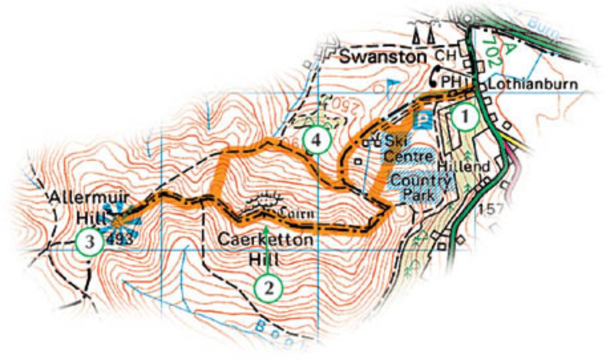 Sample Route For The Pentland Hills