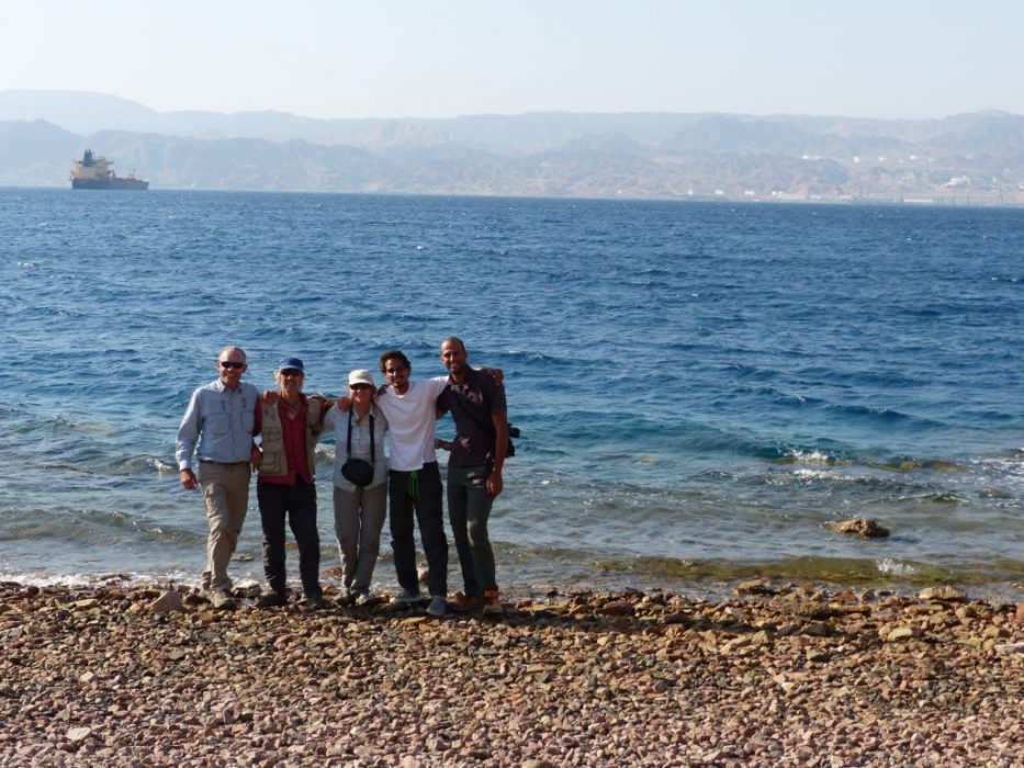 Mark Khano Tony Howard Di Taylor Amjad Shahrour And Osama Cori Reach The End Of The Trail At The Red Sea