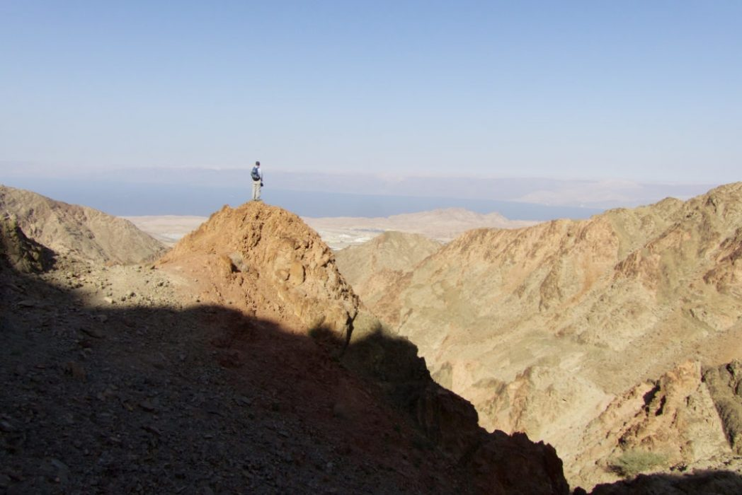 The First View Of The Red Sea From Granite Mountains South Of Aqaba