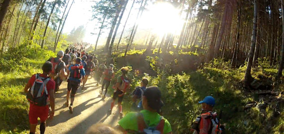 Running To Les Houches At The Start Of Utmb