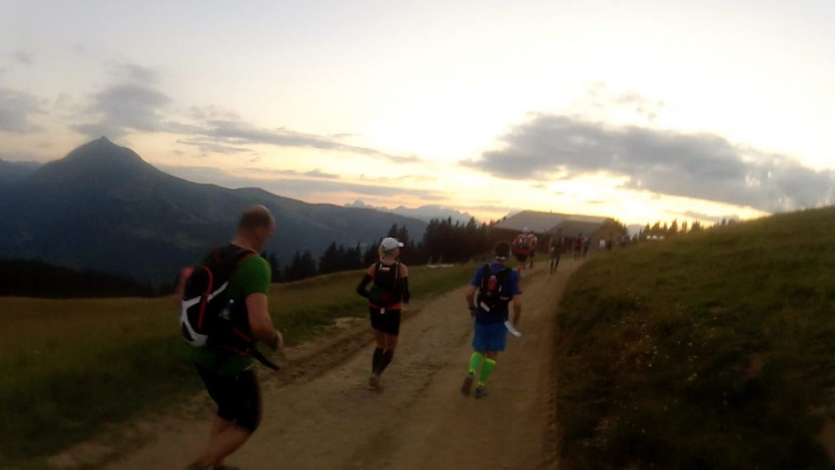 Sunset On The First Night Of Utmb After Cresting The First Big Climb Of The Race