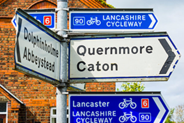 Clear Signage For The Lancashire Cycleway  Jon Sparks