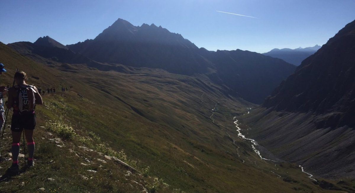 Descending From The The Col Des Chavannes During The Tds