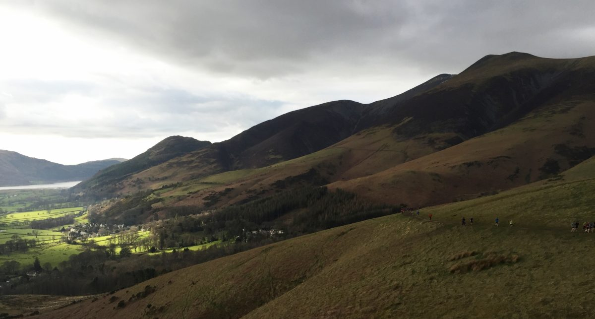 Running Up Latrigg With Runners Lined Up Behind