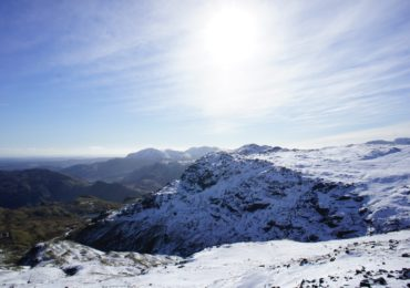 Snow over Langdale, in the heart of the Lake District