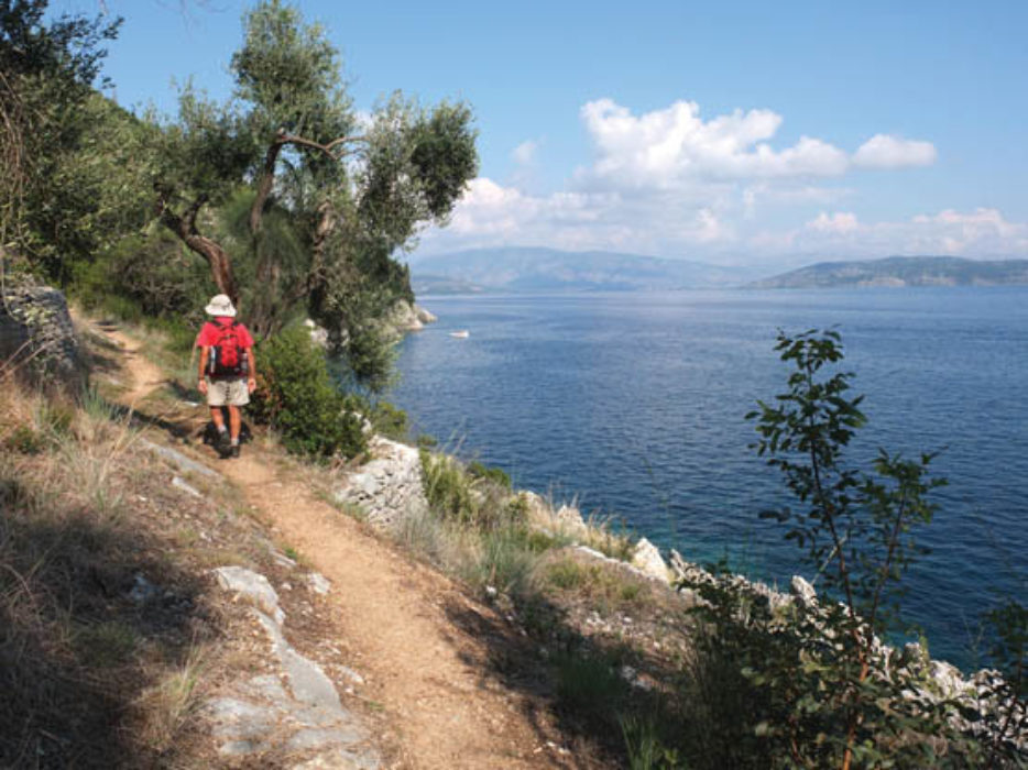 Walking on Corfu by Gillian Price