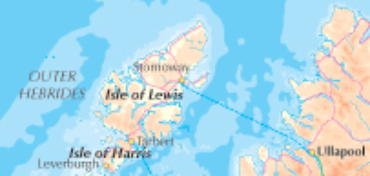 Overview Map Hebrides