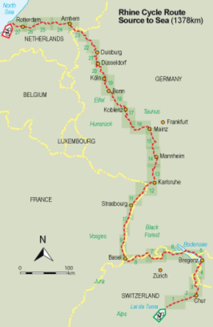 The Rhine Cycle Route From Source To Sea Cicerone