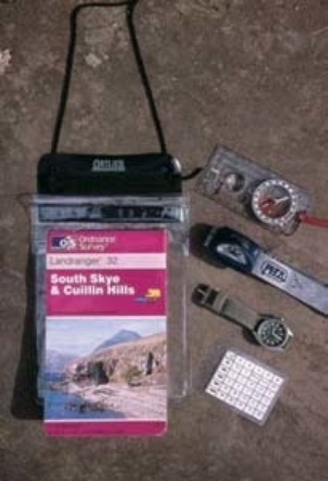 Basic Navigation Equipment For A Mountain Walk