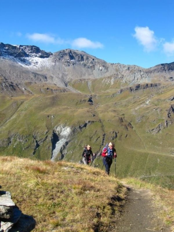 Trekking in the Moiry valley