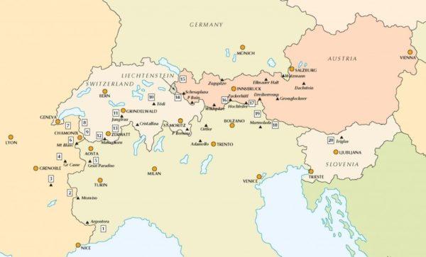 Trek In Alps Overviewmap 1024X620
