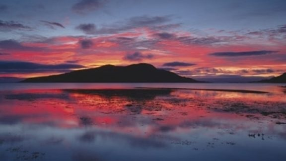 Sunrise Over Holy Isle