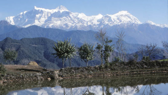 Annapurna II and Lamjung from Naudanda