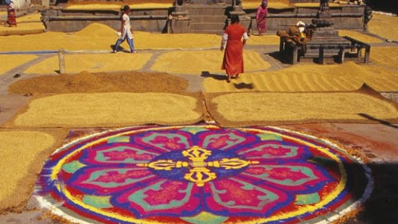 Mandala in Bungamati Square