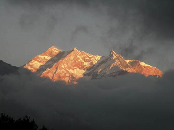 Annapurna I sunset from Kalopani