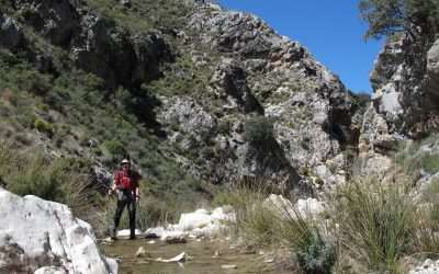 Ascending the Barranco de Malinfierno (ravine of the bad hell!)