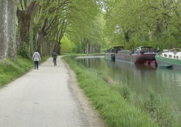 The towpath leaving Toulouse