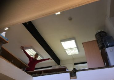 There's a hole in the ceiling...