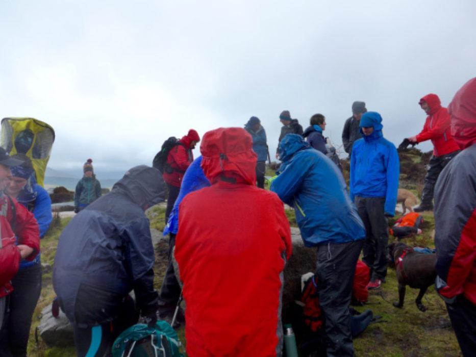 Typical Dark Peak Weather For The Dark Peak Walks Book Launch