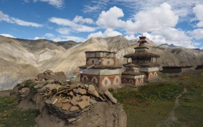 Mani Stones And Chortens Outside Saldang Village