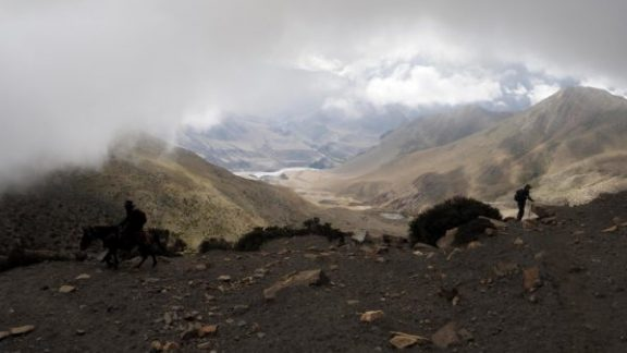 The Flood Plain Of The Kali Gandaki River Some 1600M Below The Cloud