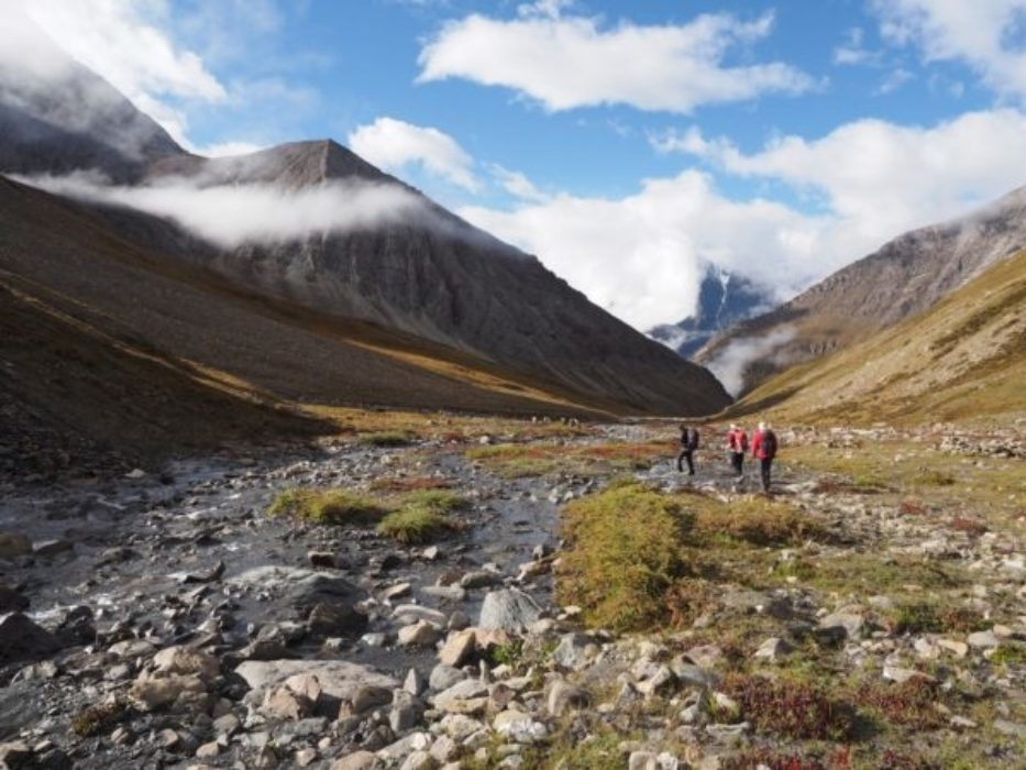 Heading Down From The Donung La Towards Shey Gompa