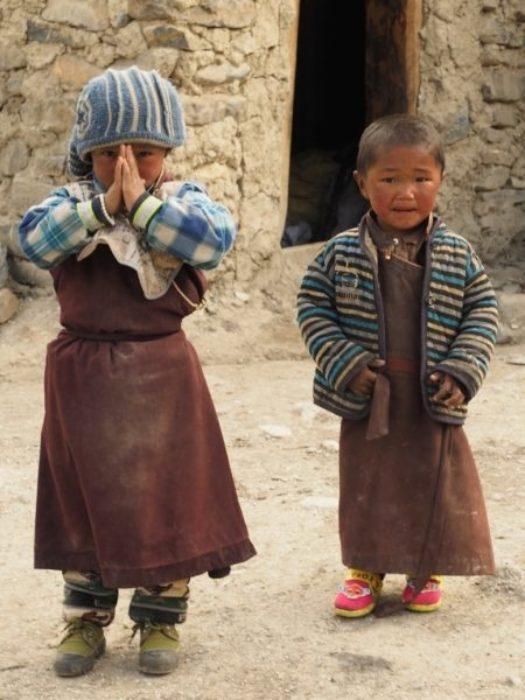 Namaste Dolpo Pa Children At Shey Gompa