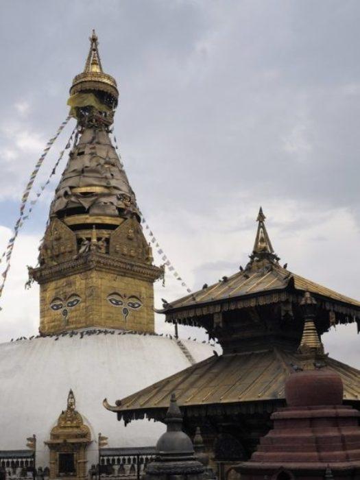 The All Seeing Eyes Of Buddha Overlook Swayambhunath Temple