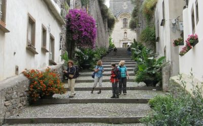 Walking Up To Lipari Cathedral