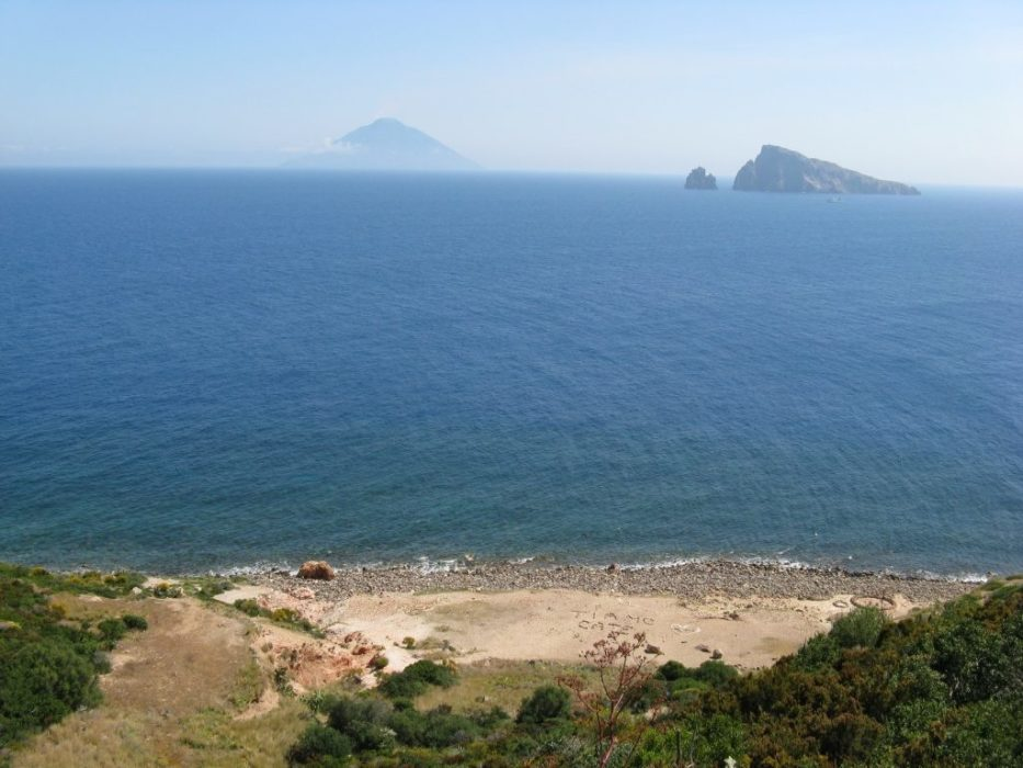 Lovers Beach Looking Towards Stromboli And Basiluzzo