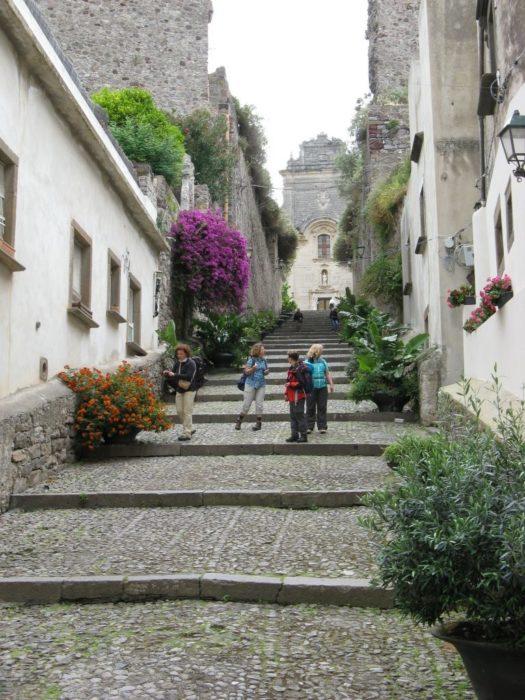 Walking Up To Lipari Cathedral