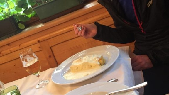 Yup Thats Simply A Massive Block Of Polenta Covered In Hundreds Of Grams Of Melted Cheese Beef Stew For Me