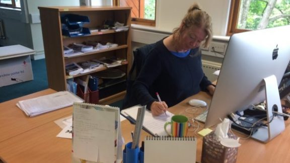 Clare One Of The First Members Of Staff Still Hard At Work In Juniper House
