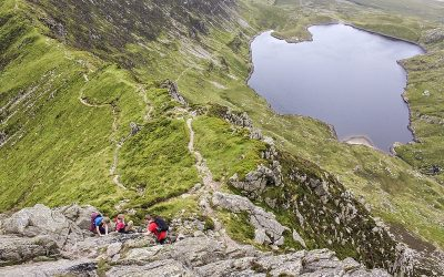 Sample Route from Scrambles in Snowdonia: Notch Arête 2***