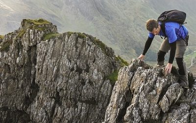 Mark helping to check out the new line of Esgair Felen Direct for the book © Carl McKeating & Rachel Crolla