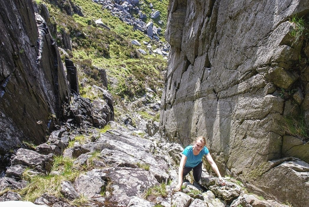 Milestone Gully is a far cry from the easiest grade 1's like the Southern Ridge Circuit © Carl McKeating & Rachel Crolla