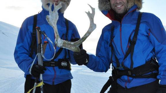 Little treasures along the way: Reindeer antlers can be found frozen in the ice and soon enough creativity in the use of those … abounds