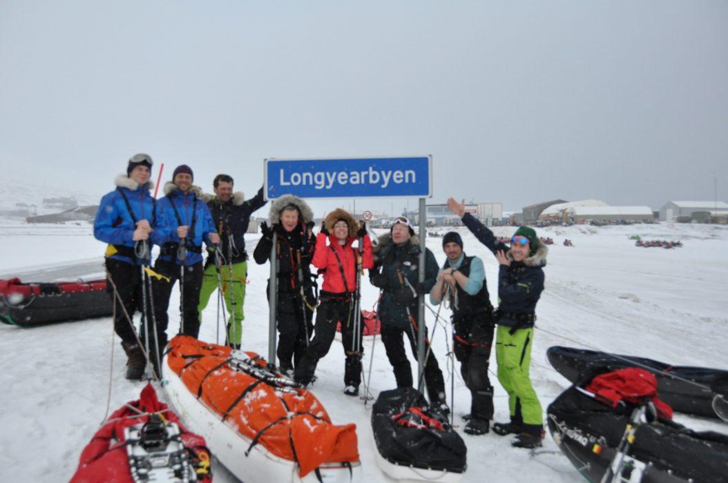 Back in Longyearbyen, Svalbard after an intense trip. Shower! Food! Celebration!
