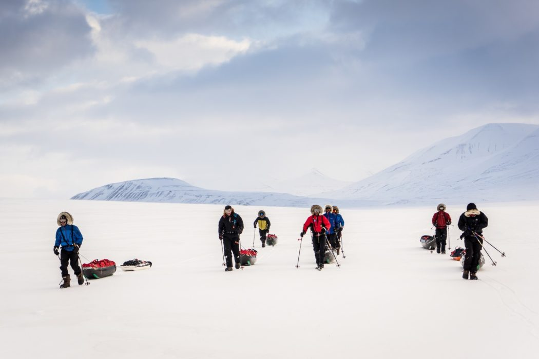 Taking the lead to learn how to navigate (in good weather conditions) are part of the learning process. Copyright Polar Circles/ Dixie Dansercoer.