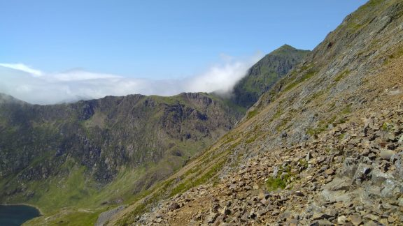 View Of Snowdon And Bwlch Y Saethau From The East Ridge Of Crib Goch