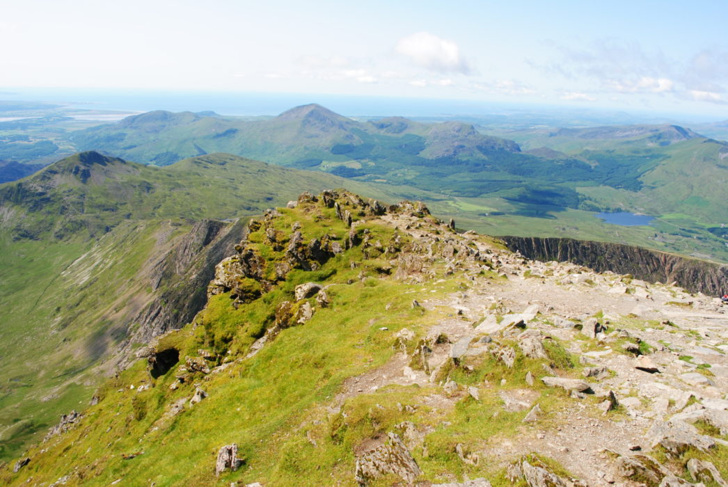 Looking South From The Summit Of Snowdon Where The Watkin Path Branches Off