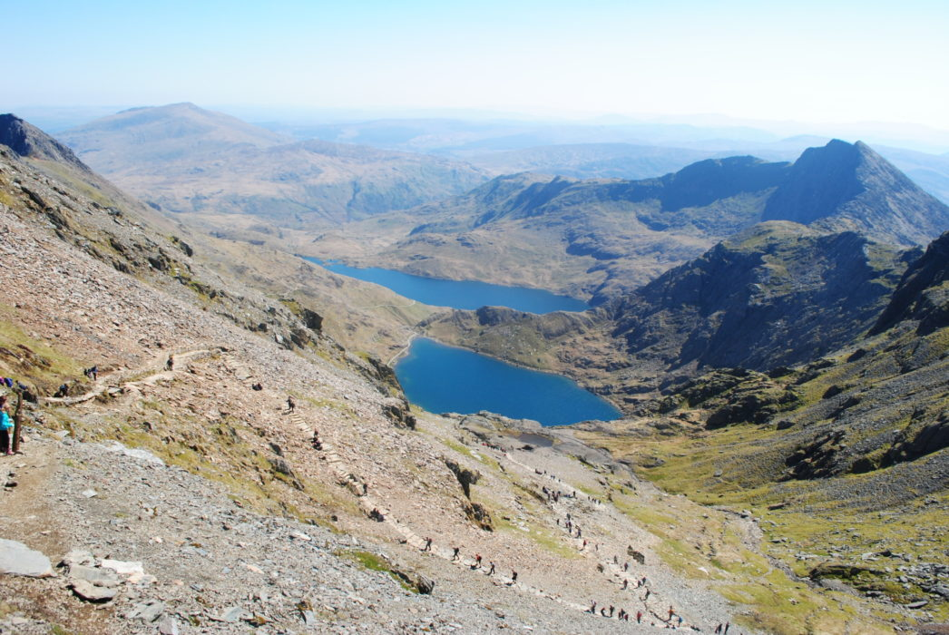Glaslyn And Llyn Llydaw The Heart Of The Horseshoe With Y Lliwedd On The Right