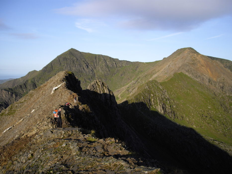 Looking From Crib Goch To Snowdon And Garnedd Ugain